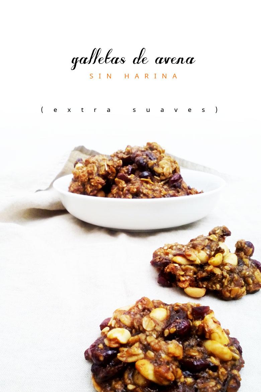 Suaves galletas de avena sin harina malabarista - Cocinar harina de avena ...