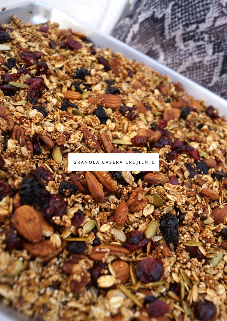 Receta de granola casera crujiente malabarista for Casera m bel